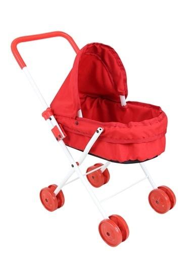 Rival Hedıyelı Prenses Katlanabilir, Metal Oyuncak Bebek ArabasıOyuncak Puset Kırmızı